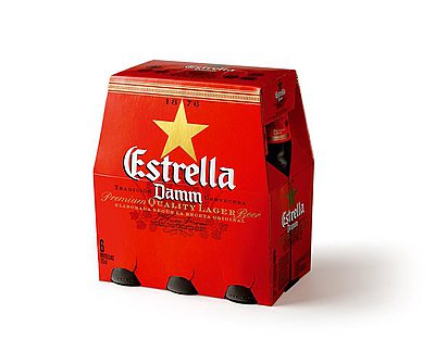 Estrella Damm 1/4 Pack 6
