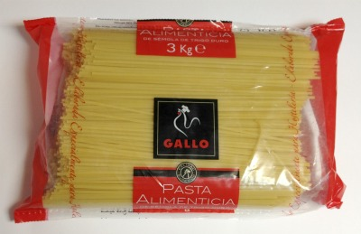 Pasta Tallarines Gallo 3 kg