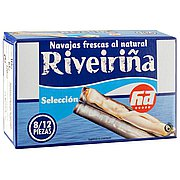 Navajas al natural Riveiriña 120 G