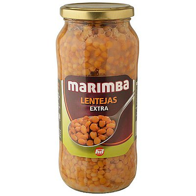 Lentejas Extra Cocidas Marimba 1 Kg