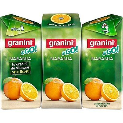 Granini Naranja Minibrik Pack de 3