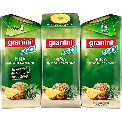 Granini Piña Minibrik Pack de 3