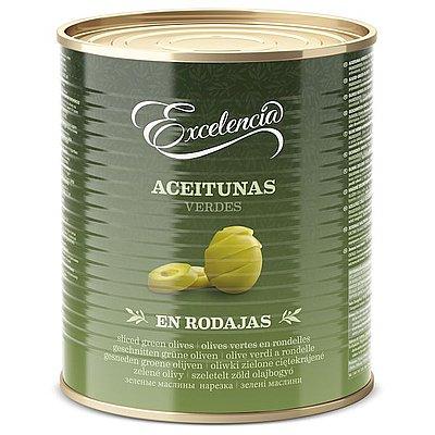 Aceituna Verde en Rodajas Excelencia 3 Kg