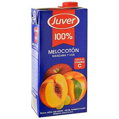 Juver Melocotón y Uva 100% Brik 1 Litro
